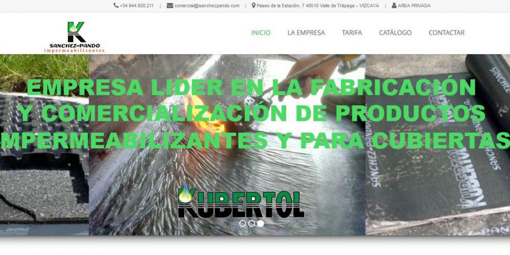 Nueva Web de Sánchez-Pando S.A.