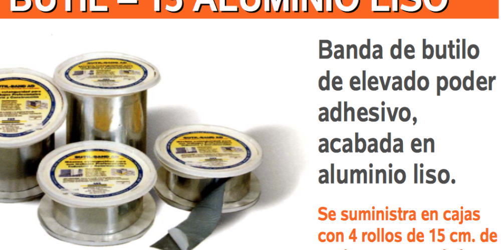 Bandas autoadhesivas de aluminio